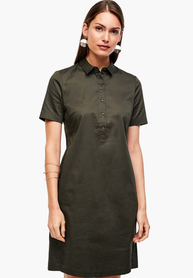 Košilové šaty - dark khaki