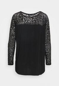 Wallis - ANIMAL DEVORE DOLMAN TEE - T-shirt z nadrukiem - black - 1
