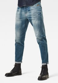 G-Star - SCUTAR 3D SLIM TAPERED - Jeans slim fit - faded spruce blue - 0