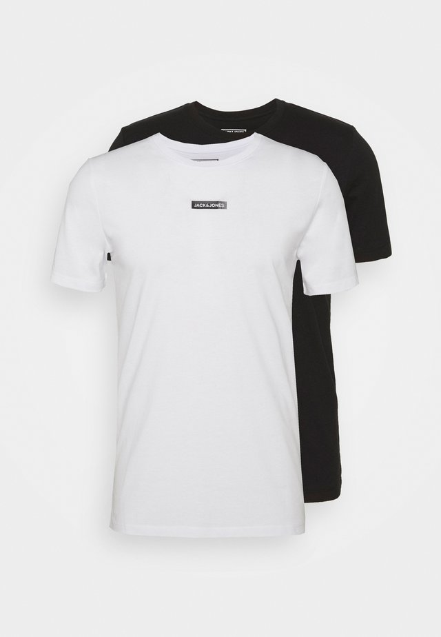 JCOZSS TEE SLIM FIT 2 PACK - T-shirt basic - black/white