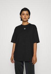 adidas Originals - TEE - Basic T-shirt - black/white - 0