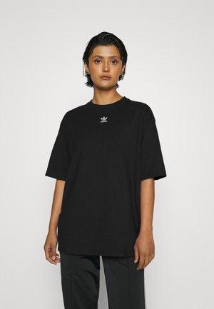 TEE - Basic T-shirt - black/white