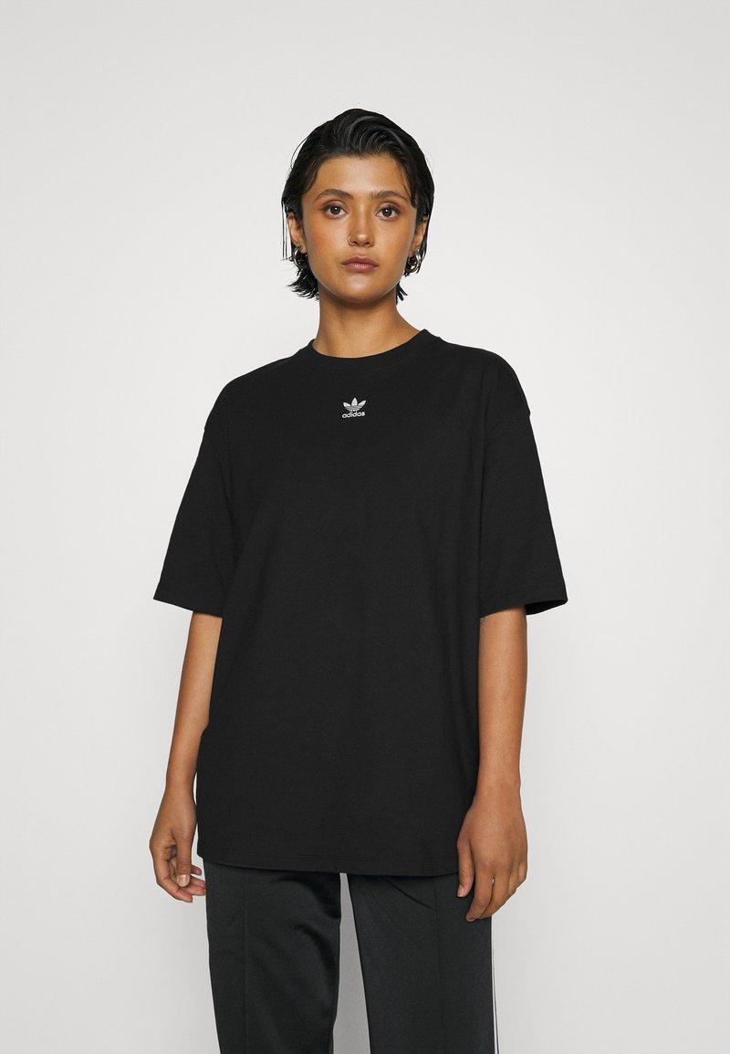 adidas Originals - TEE - Basic T-shirt - black/white