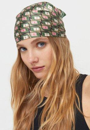 DOPPELPACK MIT STREIFEN UND BLUME IM - Headscarf - green