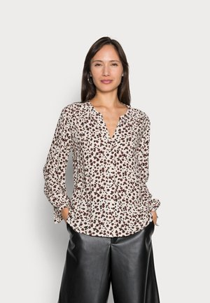 Blouse - beige small dot design