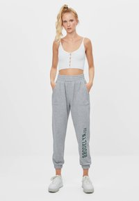 Bershka - Trainingsbroek - light grey - 1