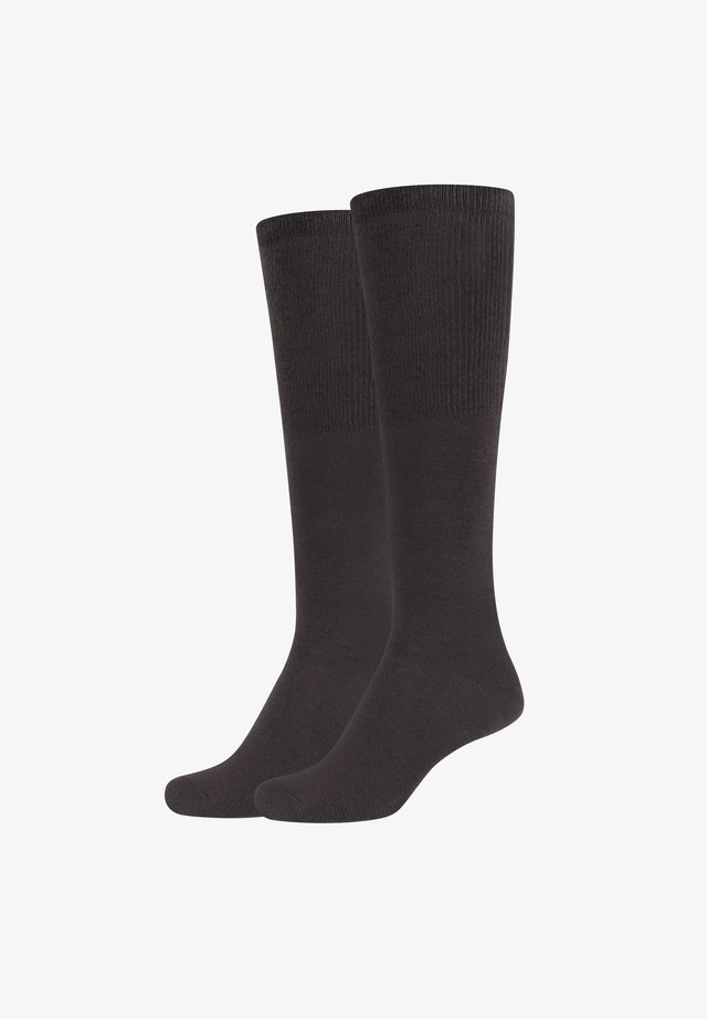 GRACE - Knee high socks - chocolate