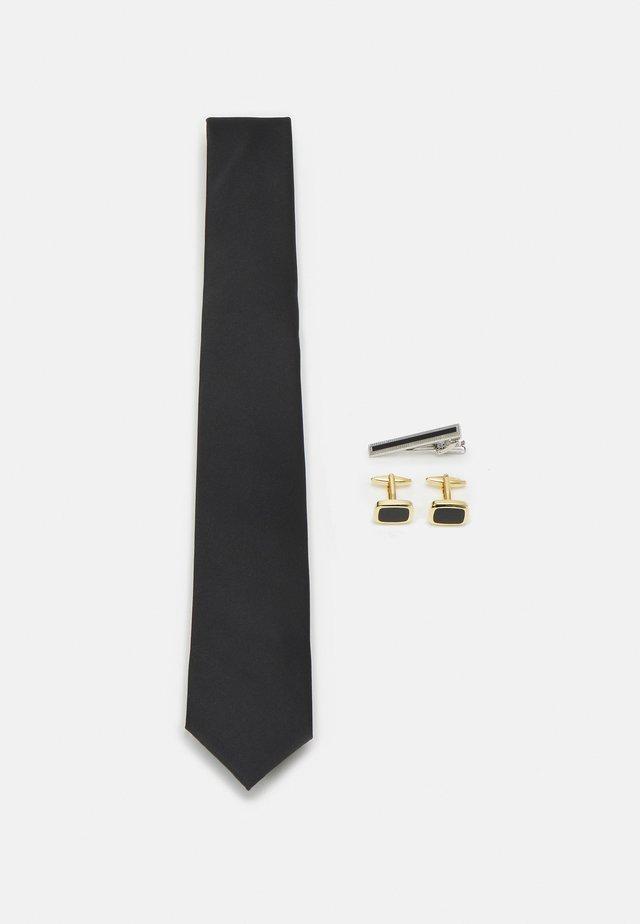 MANSCHETTENKNÖPFE KRAWATTENKLAMMER SET - Cravatta - black