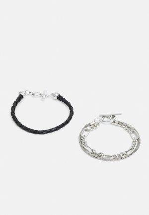 2 PACK - Bracelet - black/silver