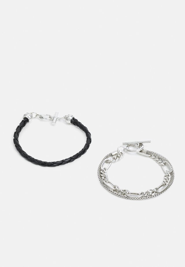 2 PACK - Armband - black/silver