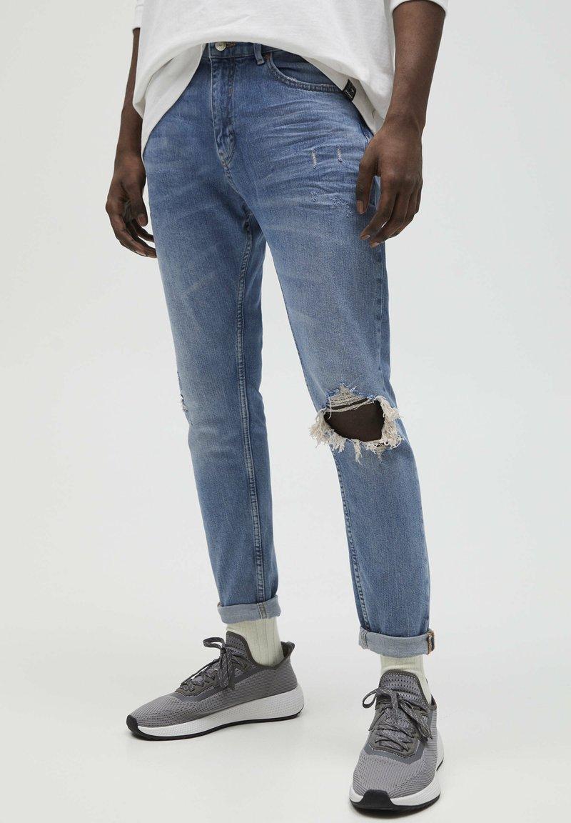 PULL&BEAR - Jeans slim fit - stone blue denim