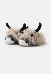 Loungeable - LONG HAIR HIGHLAND COW SLIPPER - Slippers - grey