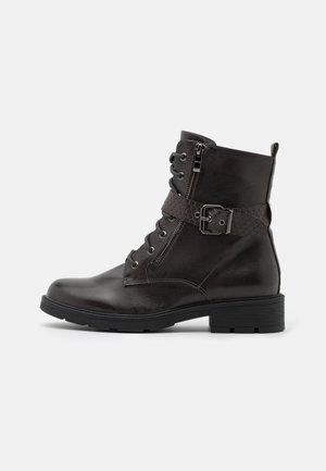 AMALIA - Lace-up ankle boots - grey
