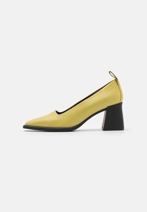 HEDDA - Escarpins - golden green