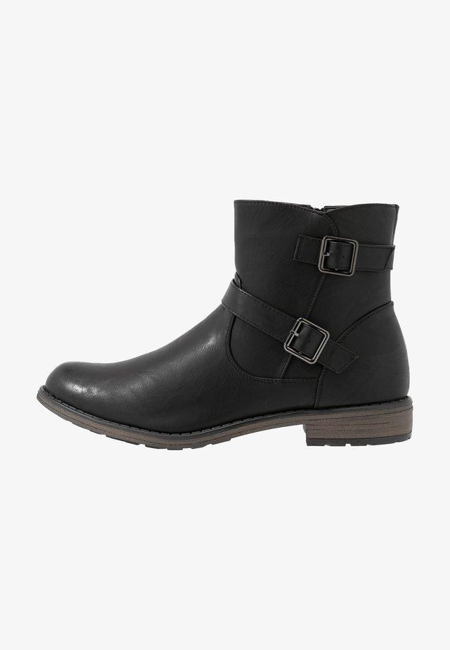 SILVIA - Cowboy/biker ankle boot - black