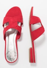 Marco Tozzi - SLIDES - Mules - red - 3