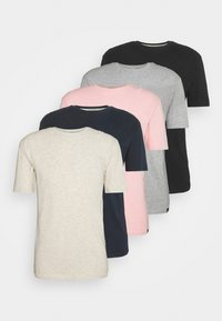 navy/light pink/off white/grey marl/black