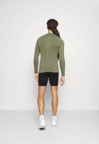NU-IN - HALF ZIP LONG SLEEVE  - Long sleeved top - khaki - 2