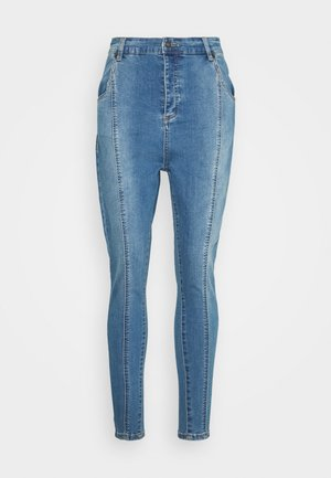 PLEATED  - Jeansy Skinny Fit - blue