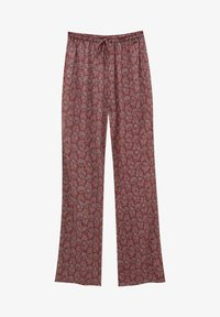 PULL&BEAR - MIT PRINT - Trousers - red - 5
