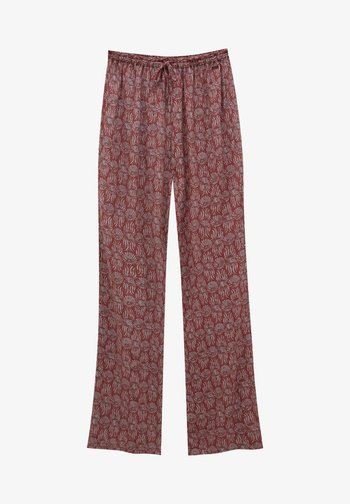 MIT PRINT - Trousers - red