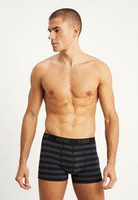 Puma - STRIPE BOXER 2 PACK - Panties - black - 2