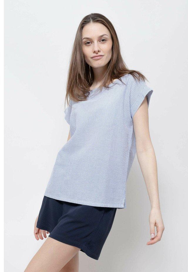 T-shirt imprimé - navy blue-white