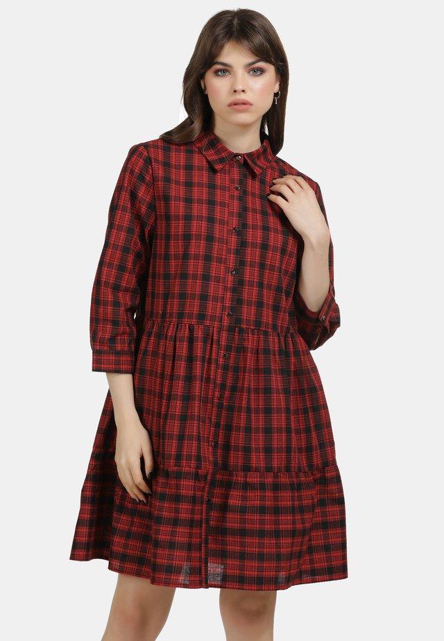 Košilové šaty - red