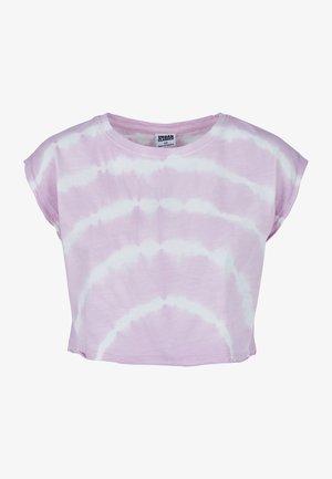 TIE DYE - T-shirt print - girlypink