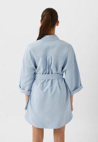 Stradivarius - LANGE LYOCELL - Shirt dress - light blue - 2