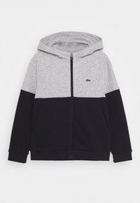 Lacoste Sport - JACKET HOODED - Trainingsvest - silver chine/abysm-white - 0