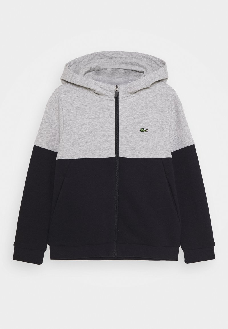 Lacoste Sport - JACKET HOODED - Trainingsvest - silver chine/abysm-white