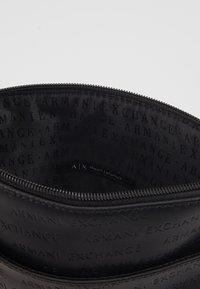 Armani Exchange - SMALL CROSSBODY BAG - Schoudertas - black - 3