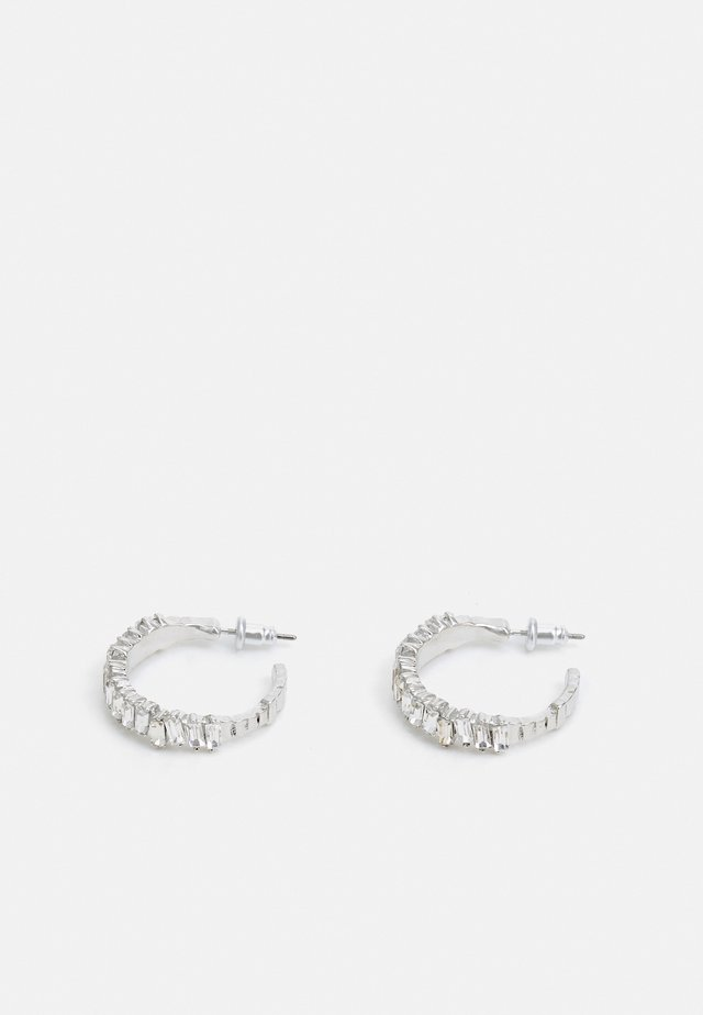 WIN BAGT STONE HOOPS - Korvakorut - silver-coloured