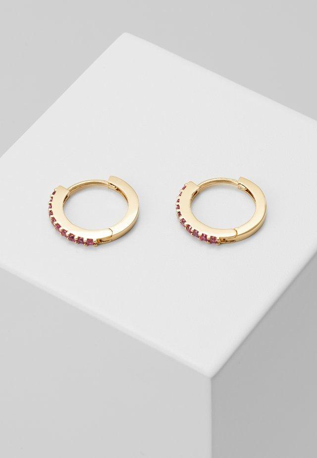 MINI PAVE HOOP EARRINGS - Boucles d'oreilles - pale gold-coloured