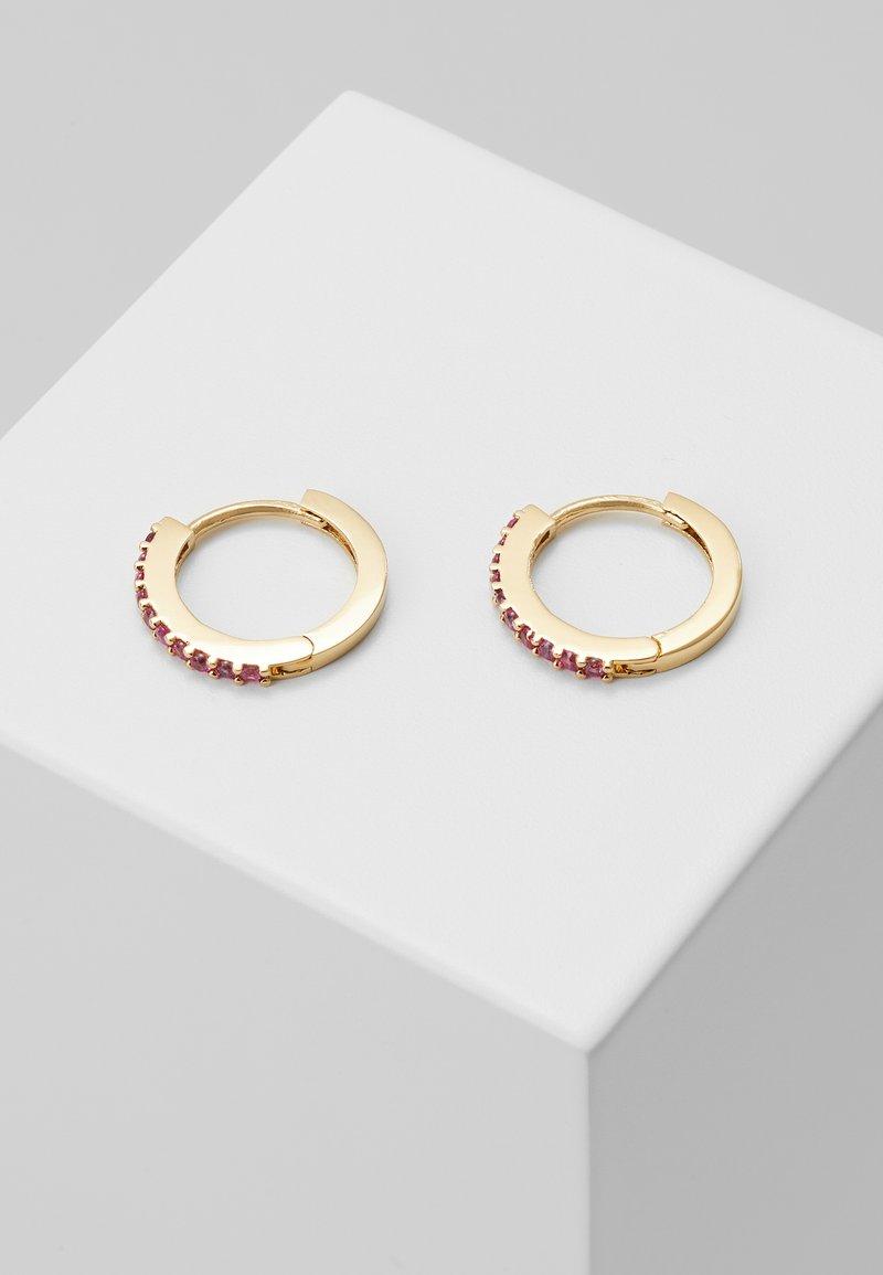 Orelia - MINI PAVE HOOP EARRINGS - Earrings - pale gold-coloured