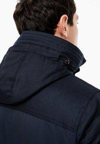 s.Oliver - IM FABRIC MIX - Winter coat - dark blue - 5