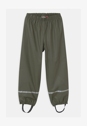 POWAI UNISEX - Rain trousers - dark green