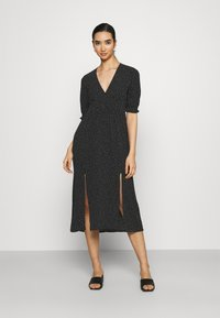Monki - REESE DRESS - Day dress - black/off white - 0