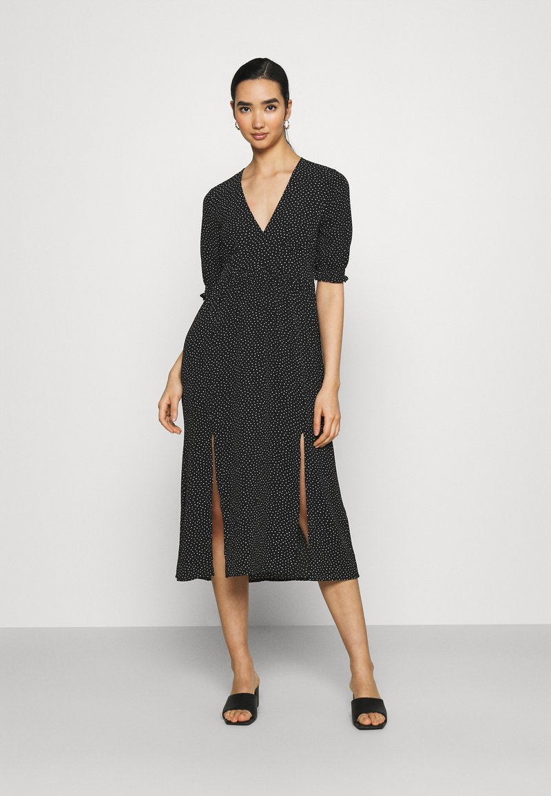 Monki - REESE DRESS - Day dress - black/off white