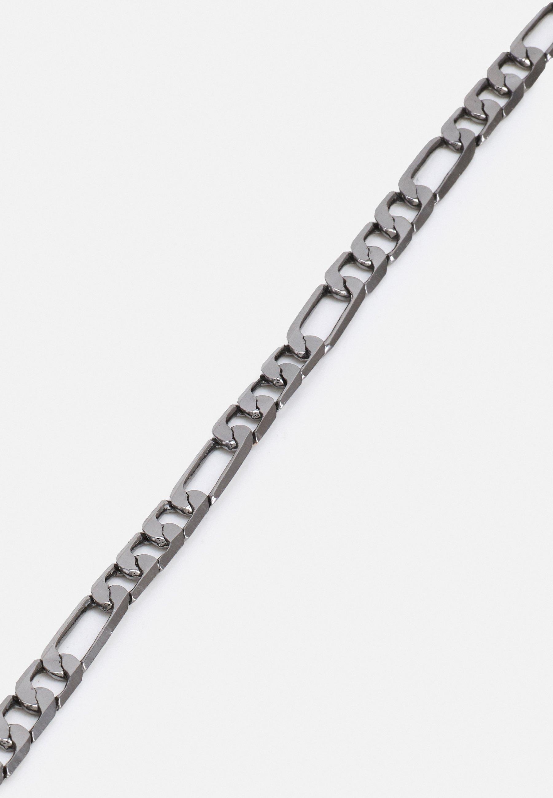Homme GUNMETAL FIGARO CHAIN BRACELET UNISEX - Bracelet