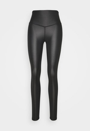 WETLOOK HIGHWAIST LEGGING - Tights - black