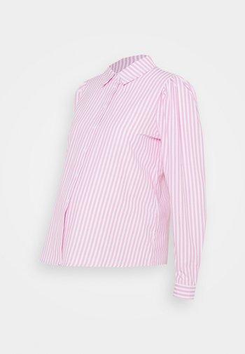PCMCANDY SHIRT - Button-down blouse - bright white/bridal rose