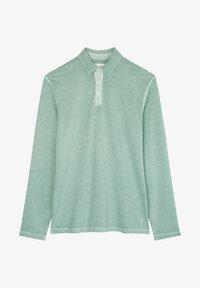 Marc O'Polo - LONG SLEEVE FLATLOCK DETAILS - Polo shirt - green bay - 5