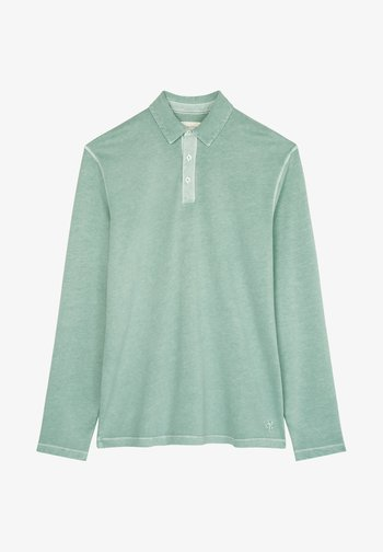 LONG SLEEVE FLATLOCK DETAILS - Polo shirt - green bay