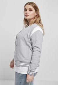 Urban Classics - Zip-up hoodie - grey white - 6