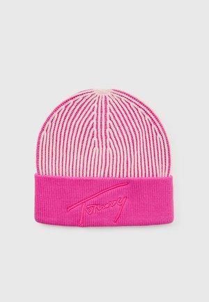 LOGO BEANIE - Beanie - pale pink/fuchsia
