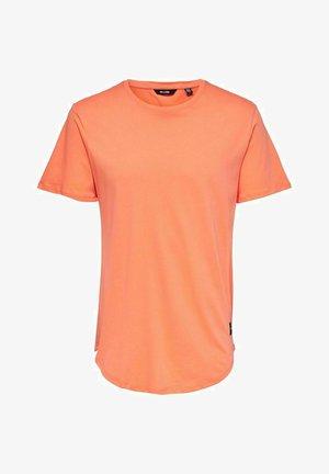 ONSMATT LIFE LONGY TEE  - Basic T-shirt - orange