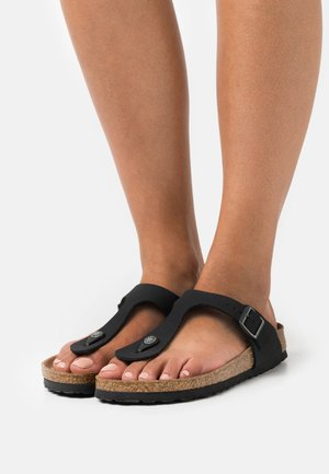 GIZEH EARTHY VEGAN - T-bar sandals - black