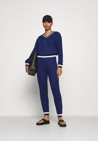 Cream - MONA PANTS - Trousers - medieval blue - 1
